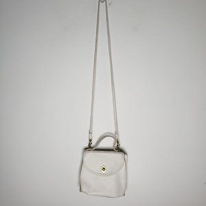 Vintage Coach White Manor Leather Crossbody Bag